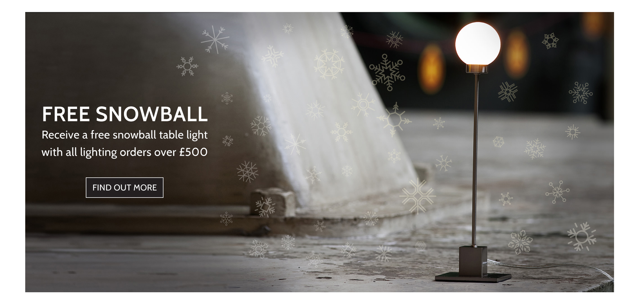 Free Snowball Table Lamp