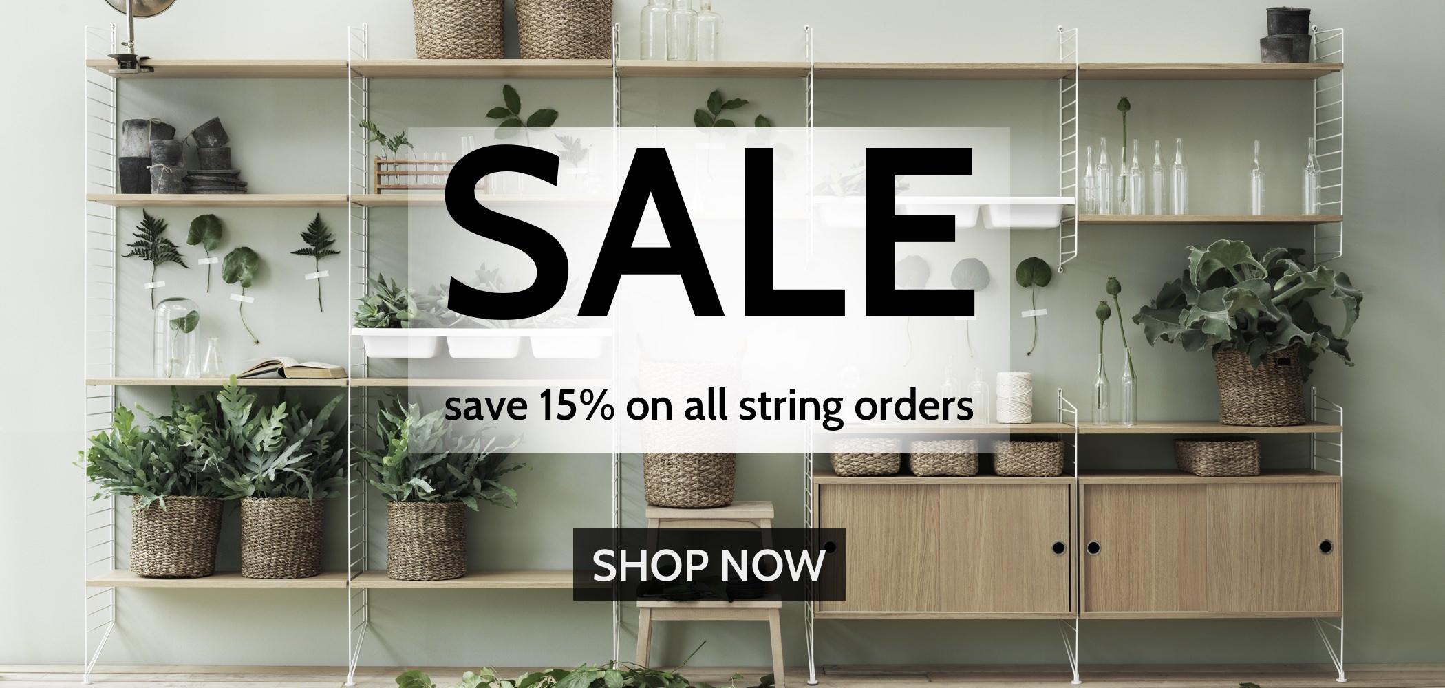 SALE 15% off String Furniture